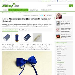 Simple Bows with Ribbon
