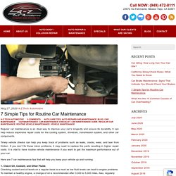 7 Simple Tips for Routine Car Maintenance