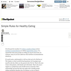 Simple Rules for Healthy Eating
