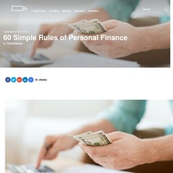 60 Simple Rules of Personal Finance