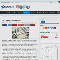 Top 5 simple tax saving strategies - Aegon Life - Blog
