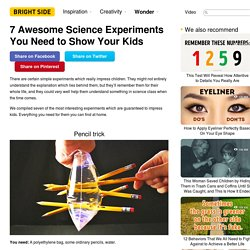 Six simple science experiments you need to show your kids
