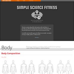 Simple Science Fitness. Burn Fat & Build Muscle for Healthy Humans.