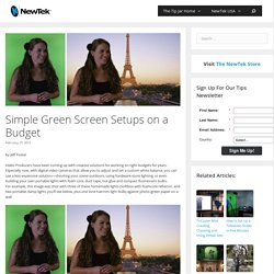Simple Green Screen Setups on a Budget