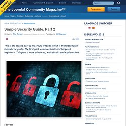 Simple Security Guide, Part 2