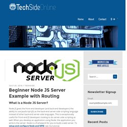 Simple Node JS Server Tutorial with Example - 2016 - Tech Side