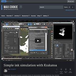 Simple ink simulation with Krakatoa - Max Cookie Max Cookie