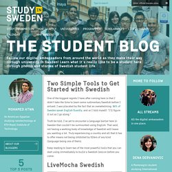 Two Simple Tools to Get Started with Swedish