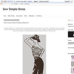 Free Cross Stitch Fashion Sketch