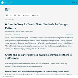 A Simple Way to Teach Your Students to Design Patterns