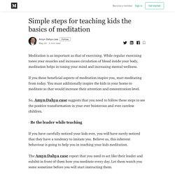 Simple steps for teaching kids the basics of meditation