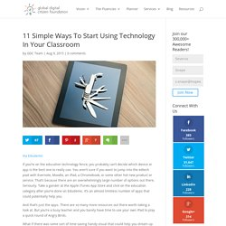 11 Simple Ways To Start Using Technology In Your Classroom