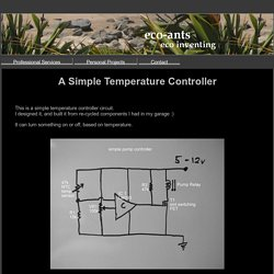 > A Simple Temperature Controller <