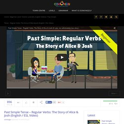 Past Simple Tense - Regular Verbs: The Story of Alice & Josh (ESL Video)