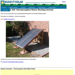 A Simple DIY Thermosyphon Solar Water Heating System