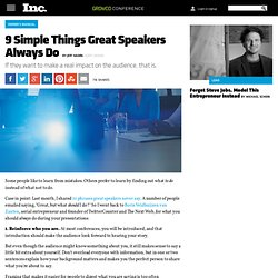 9 Simple Things Great Speakers Always Do