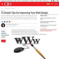13 Simple Tips for Improving Your Web Design