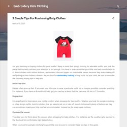 Looking For Embroidery Clothing For Your Kids