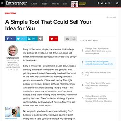 A Simple Tool That Could Sell Your Idea for You