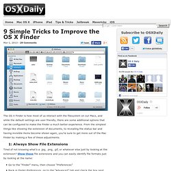 9 Simple Tricks to Improve the OS X Finder