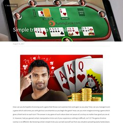 Simple tricks to win online Rummy