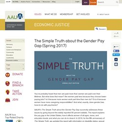 The Simple Truth about the Gender Pay Gap (Spring 2016): AAUW