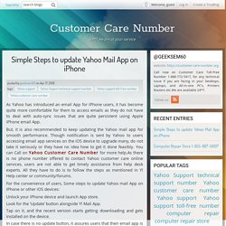 Simple Steps to update Yahoo Mail App on iPhone - Customer Care Number