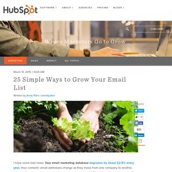 25 Simple Ways to Grow Your Email List