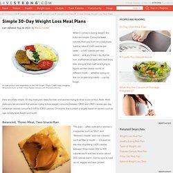 30-day Diet & Fitness Plan