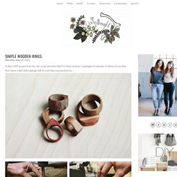 Simple Wooden Rings. - The Merrythought