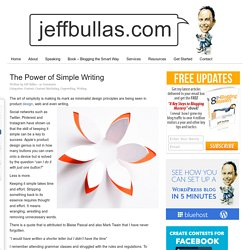 The Power of Simple Writing