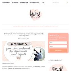 8 Tutoriels pour créer simplement des déguisements pour enfants - Lyly met la main la patte - tutoriels gratuits