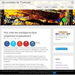 Vizir: créer des sondages en ligne simplement et gratuitement