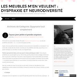 Les meubles m'en veulent : Dyspraxie et neurodiversité