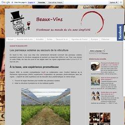 Beaux-vins : le blog pour découvrir le vin tout simplement: Les panneaux solaires au secours de la viticulture