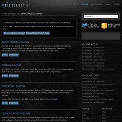 SimpleModal Demos / Eric Martin / ericmmartin.com