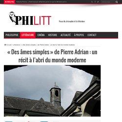 Des âmes simples(PhiLitt)