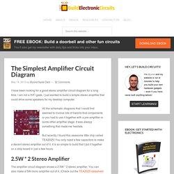 The Simplest Audio Amplifier Circuit Diagram