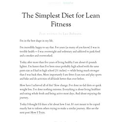 » The Simplest Diet for Lean Fitness