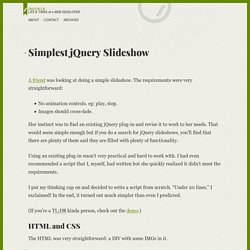Simplest jQuery Slideshow
