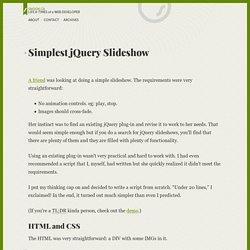 Simplest jQuery Slideshow
