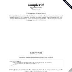 SimpleVid on GitHub