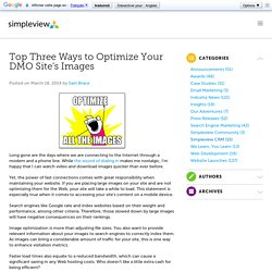Top Three Ways to Optimize Your DMO Site's Images