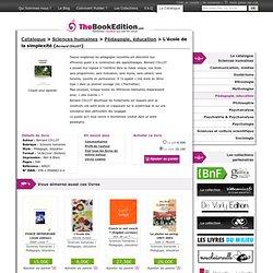 L'école de la simplexité de Bernard COLLOT sur TheBookEdition