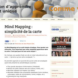 Mind Mapping : simplicité de la carte