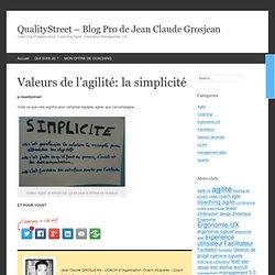 Valeurs de l'agilité: la simplicité