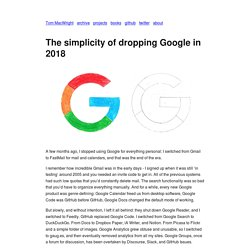 The simplicity of dropping Google in 2018 - macwright.org