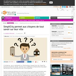 SimpliCity permet aux citoyens de tout savoir sur leur ville