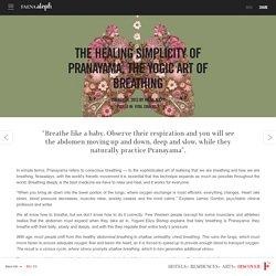 La simplicidad curativa del Pranayama: el arte yóguico de respirar