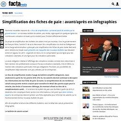Simplification des fiches de paie : avant/après en infographies – Facta Media